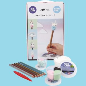 Foam clay + silk clay kit. Enhörningspennor
