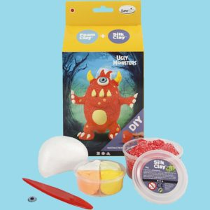 Foam clay + Silk clay kit. Ugly monsters