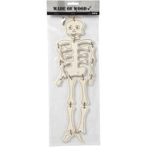 Skelett, träfigur