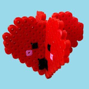 Pärla 3D-figurer med jumbopärlor. Inkl. Piggplattor